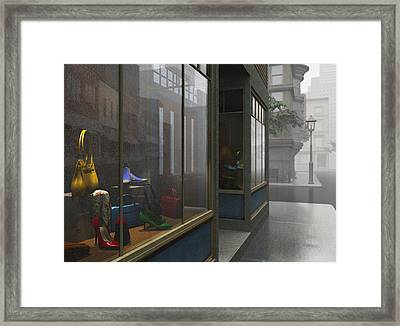 Window Shopping Framed Print by Cynthia Decker