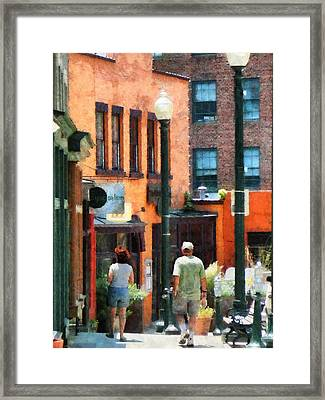 Window Shopping In Downtown Asheville Framed Print