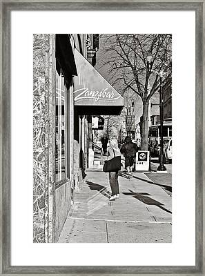 Window Shopping In Lancaster Framed Print by Trish Tritz