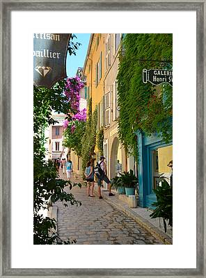 Window Shopping In St Tropez Framed Print by Corinne Rhode