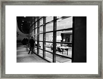 Window Shopping In The Dark Framed Print by Melinda Ledsome