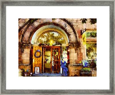 Window Shopping  Framed Print by Janine Riley