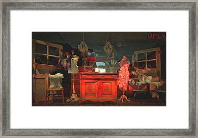 Window Shopping  Framed Print by L Wright
