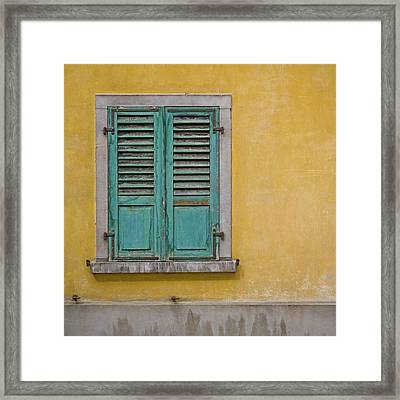 Window Shutter Framed Print by Heiko Koehrer-Wagner