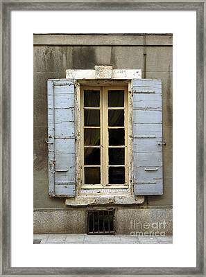 Window Shutters In Europe Framed Print