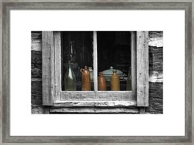 Window Sill Framed Print by Jack Zulli