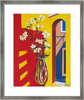 Window Framed Print by Sinisa Saratlic