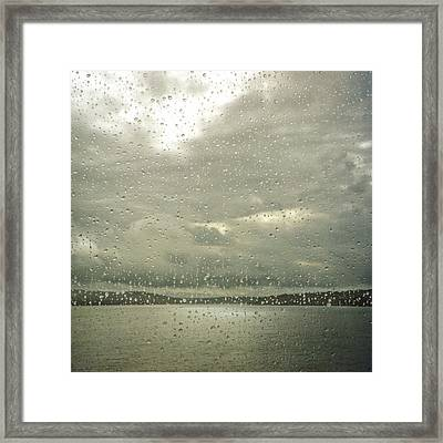 Framed Print featuring the photograph Window Tears by Sally Banfill