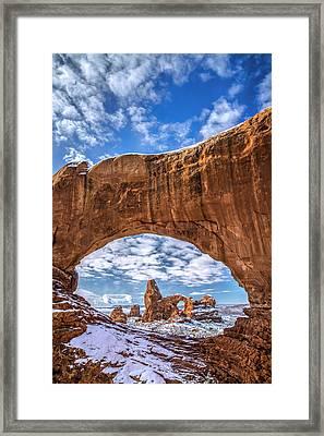 Window Through Time Framed Print by Dustin  LeFevre