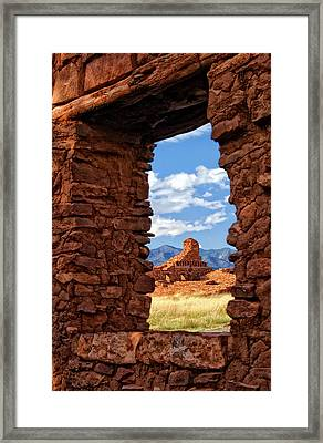 Window To Abo Framed Print by Ghostwinds Photography