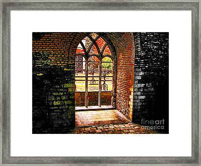 Window To Courtyard Framed Print