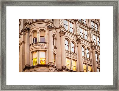 Window To My Heart Framed Print