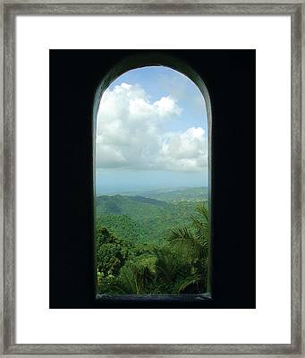 Window To Paradise  Framed Print by Jon William Lopez