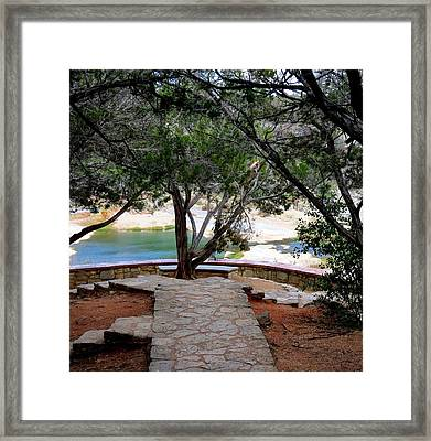 Framed Print featuring the photograph Window To Peace by David  Norman