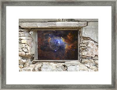 Window To Space Framed Print