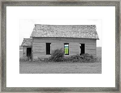 Window To The Future Framed Print
