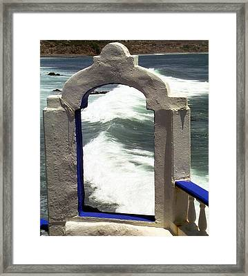 Window To The Ocean Framed Print