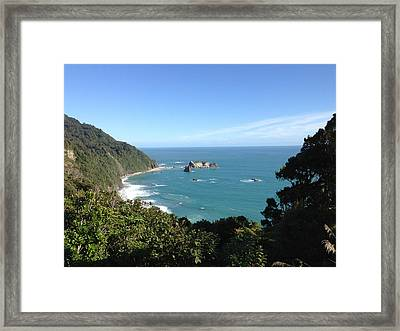 Window To The Ocean Framed Print by Ron Torborg