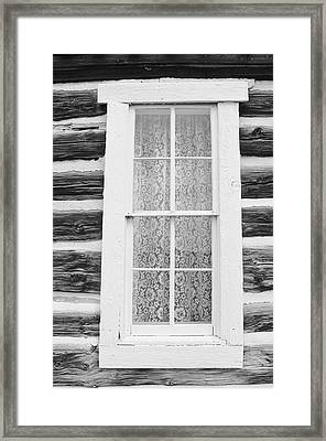 Framed Print featuring the photograph Window To The Old West by Diane Alexander