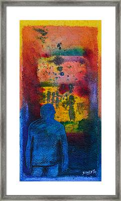 Window To The Other Side Framed Print by Donna Blackhall