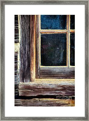 Window To The Past Framed Print by Dan Carmichael