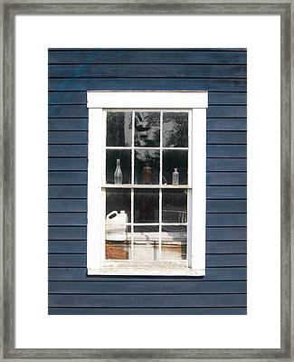Window To The Past Framed Print by Ernest Puglisi