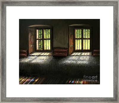 Window To The Past Framed Print by Kiril Stanchev
