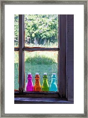Window To The Past Framed Print by Teri Virbickis