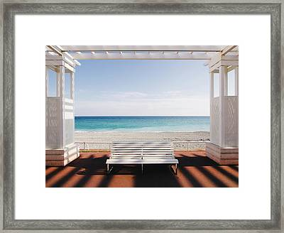 Window To The Sea Framed Print