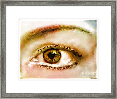 Window To The Soul II Framed Print by Debbie Portwood
