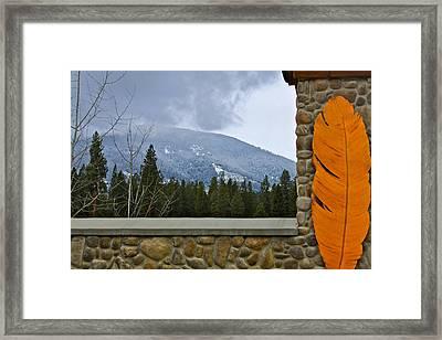 Window To The Wilderness Framed Print by Karon Melillo DeVega