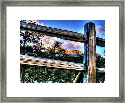 Window To Twin Sisters Framed Print