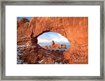 Window To Utah Framed Print by Adam Jewell
