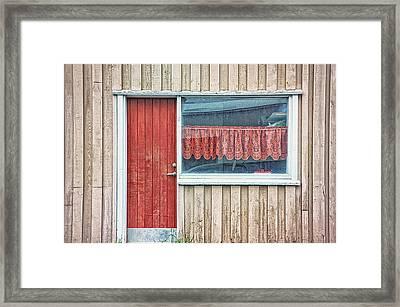Window V Framed Print by Cora Niele