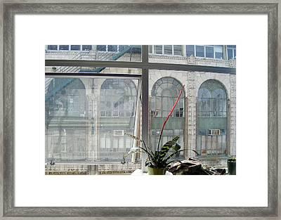 Window View Framed Print by Ingrid Van Amsterdam