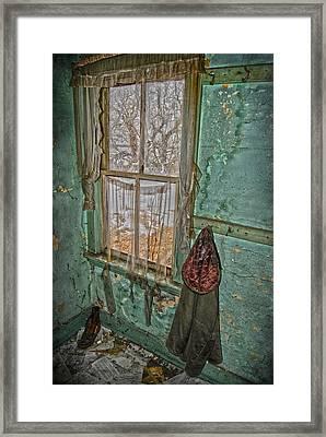 Window Watcher  Framed Print by Empty Wall