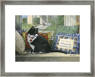 Window Watchers Framed Print