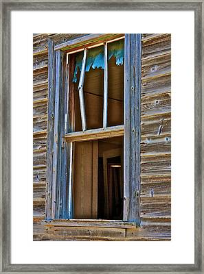 Window With A Light Framed Print