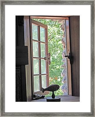Window With A View Framed Print by Barbara McDevitt