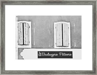 Windows Above The Boulangerie Framed Print