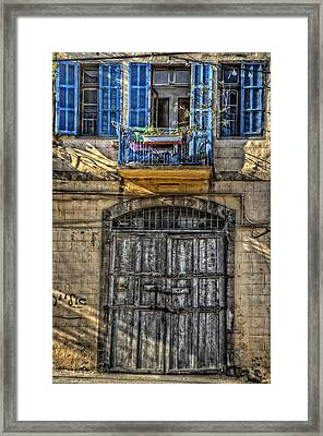 Windows Above The Door Framed Print