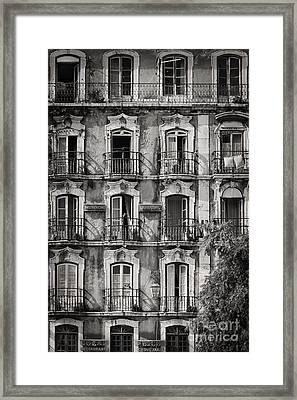 Windows And Balconies 1 Framed Print