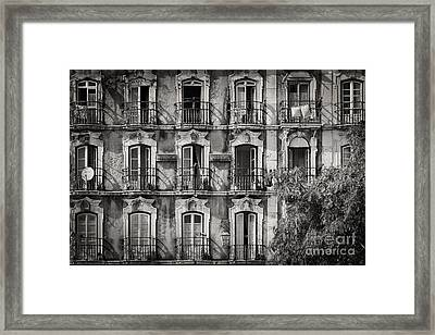Windows And Balconies 2 Framed Print