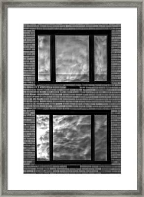 Windows And Clouds Framed Print by Robert Ullmann