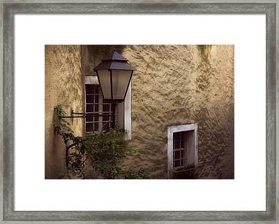 Windows And Lamp Framed Print by Chris Fletcher