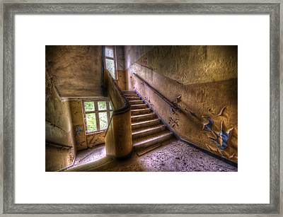 Windows And Stairs Framed Print