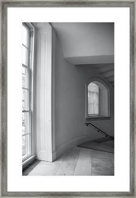 Windows And Stairway Framed Print