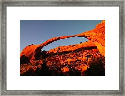 Windows Arch In The Morning Framed Print by Jeff Swan
