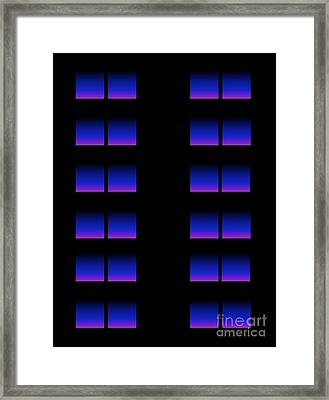 Framed Print featuring the digital art Windows by Gayle Price Thomas