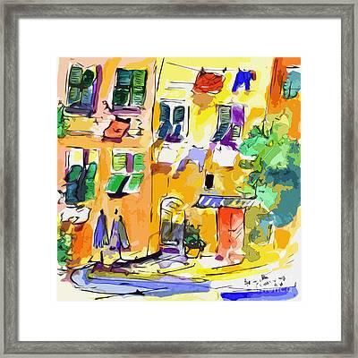 Windows In Portofino Italy Framed Print by Ginette Callaway